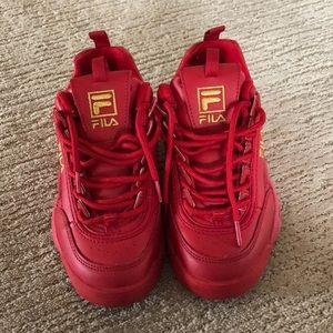 Red women's Fila's